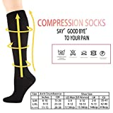 6 Pairs Graduated Compression Socks - Knee High,Unisex for Men & Women (15-20mmHg) Comfortable Design Ideal for Sports , Pregnancy, Flight & Travel, Nursing by Matchwill
