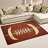 COOSUN American Football Area Rug Carpet Non-Slip Floor Mat Doormats for Living Room Bedroom 78.7 x 50.8 cm ( 31 x 20 inch )