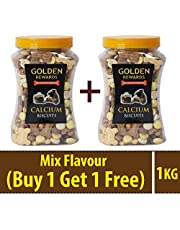 BLACK DOG Treats for Dogs Calcium Biscuits with Candy Mix Treats for Puppies & Adult Dogs (2 Pack)