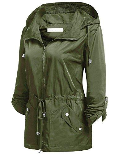 Caeasar -  Giacca impermeabile  - Donna verde militare