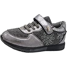 Miss Sixty Shoes scarpe bimba bambina autunnali invernali sportive da ginnastica casual comode finti lacci e strappo colore grigia numero 27