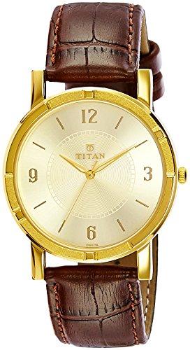 51PByQWTcGL - Titan 1639YL03 Champagne Mens watch