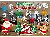 Comfot Weihnachten Elektrostatische Glas Aufkleber Niedliche Schneeflocke Abnehmbare Fröhliche Weihnachts-Showshop-Fenster Dekor Aufkleber Weihnachtstage Dekorationen Ornament