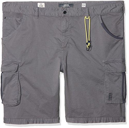 s.Oliver Big Size Herren Shorts 15.806.74.5125 Grau (Metal 9510) Keine Angabe(Herstellergröße: 44) - Big And Tall