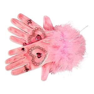 Kids Pink Jewel & Glitter Fancy Dress Gloves (3-8 years) Lucy Locket