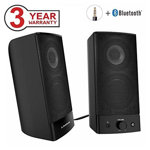 Avantree Wireless & Wired Desktop Lautsprecher Computer Bluetooth, Multimedia Lautsprechersystem Speakers mit 3,5mm AUX für PC, Laptop, Notebook, Mac, TV und Handy - SP750 [3 Jahre Garantie]