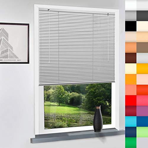 Aluminium Jalousie nach Maß, hochqualitative Wertarbeit, 28 Farben verfügbar, Maßanfertigung, für Fenster und Türen, Alu Jalousien, Decken und Wandmontage (Achatgrau, Höhe: 200cm x Breite: 140cm)