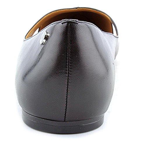 Calvin Klein Gailia Cuir Chaussure Plate Black