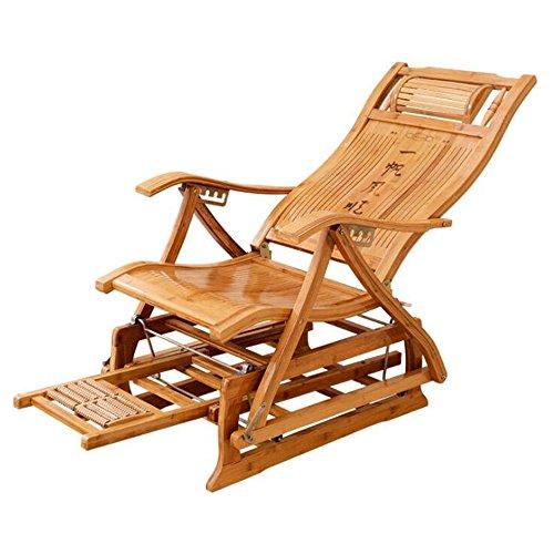 Sessel Zr Bambus Schaukelstuhl Liegestuhl Erwachsener Nickerchenstuhl Balkon Couch Lässiges Falten Bambus Stuhl -Geeignet für Innen- und Außenbereich