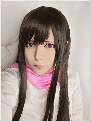 LanTing Cosplay Perücke Noragami Iki Hiyori Brown Lange Perücke Frauen Cosplay Party Fashion Anime Human Costume Full wigs Synthetic Haar Heat Resistant (Iki Kostüm Hiyori)