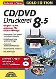 CD/DVD Druckerei 8.5 inkl. 30 CD/DVD Etiketten Gratis - CD/DVD und Blu-ray Covers gestalten - F�r Windows 10 / 8.1 / 8 / 7 / Vista Bild
