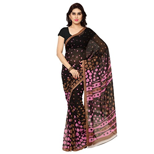 Kashvi Sarees Faux Georgette Pink & Multi Color Printed Saree With Blouse Piece ( 1148_4 )  available at amazon for Rs.259