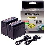 2X NP-F970, NP-F550, NP-F750, NP-F330, NP-F770, NP-F960, Batterie de Rechange 7800mAh...
