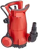 Matrix 340300140 Tauchpumpe Klarwasser, 7.000 Liter pro Stunde, 400 Watt, Förderhöhe 7,5 Meter, Fremdkörper bis 5mm, Pool, Keller, Garten, klein, automatik