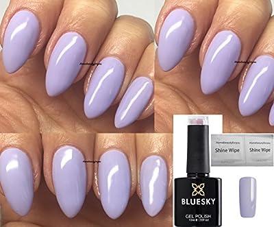 Bluesky Fairy Tale Light Lilac Brand New Summer 2018 Colour Nail Gel Polish UV LED Soak Off 10ml PLUS 2 Homebeautyforyou Shine Wipes