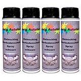 4 x 500 ml spray protector anti-gravilla protector para bajos negro.