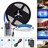 Tiras LED, GHONLZIN Tira LED de Luces RGB 5M 150 LEDs 5050 SMD Impermeable Tiras de LED Kit ...