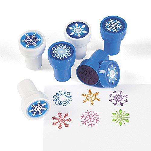 kristall Eiskristall mit 6 verschiedenen Motiven Palandi® (Stempel Schneeflocke)