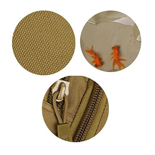YAAGLE Outdoor Schultertasche groß Fassungsvermögen Fahrradrucksack Reisetasche IPAD Brustbeutel 14 zoll Laptoptasche Herren Taschen-Tarnung 4 Tarnung 2