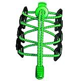 Canwn [2 Paia] Lacci per Scarpe Elastici Riflettenti e Autobloccanti Neon Verde