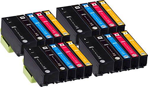 Metro Market 20 Piezas para Epson 26XL Cartuchos de tinta Alta Capacidad para Epson Expression Premium XP-510 XP-520 XP-600 XP-605 XP-610 XP-615 XP-620 XP-625 XP-700 XP-710 XP-720 XP-800 XP-810 XP-820
