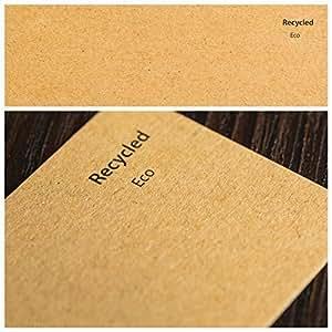 300 g/m² 50 feuilles de Papier Naturel A5 ECO KRAFT brun 100% recyclé cartes vierges de qualité du Papier WEDDING & CRAFT