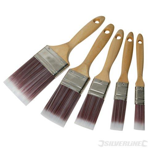 Malerpinsel : Silverline 282408 Malerpinsel mit synthetischen Borsten- 5-tlg