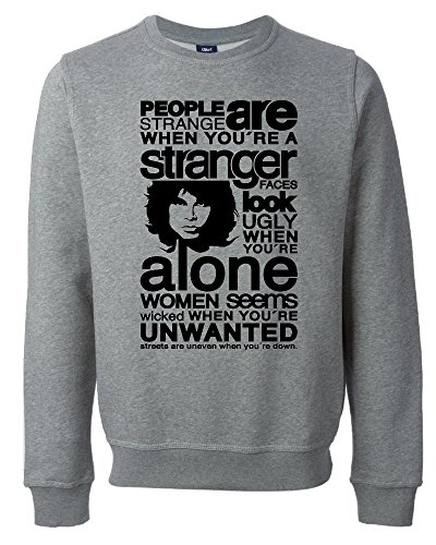 The Doors Inspired Word Art Unisex Maglione Felpa Large