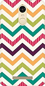 AMEZ designer printed 3d premium high quality back case cover for Xiaomi Redmi Note 3 (zig zag pattern )