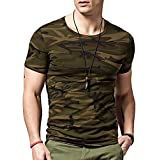 Military Camouflage Men's Round Neck Half Sleeve Army T Shirts for Men (XXL (44))