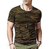Lion Men's Cotton Camouflage Round Neck Half Sleeve Army T-Shirt Army_XXL