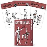 NewMe Fitness kettlebell cartes d'exercice des séances d'entraînement de gym à domicile pour musculaire 3,5' x5' cartes