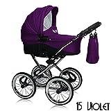 Tabbi Kids | Modell Eve | 2 in 1 Kombi Kinderwagen | Farbe: Violet