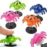 German Trendseller® - 6 x araignées sauteuses┃petit cadeau ┃l'anniversaire d'enfant┃des ressorts en spirale┃attrape