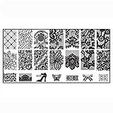 Tonsee 1pc Frauen Nailart DIY Nagel Stempel Stempelfarbe Bild Platte Print Nail Art Vorlage (4)