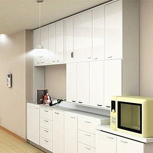 KINLO 5M Vinilo Pegatina de Mueble de cocina, La protección de armarios de Engomada del PVC Rollos de papel, Autoadhesivo Papel Pintado Mueble / Cocina, Antibacteriano Antifouling - Blanco
