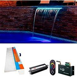Warmpool Cascada 90 CM Piscina LED RGB 12W con Control Remoto RGB WiFi y Transformador