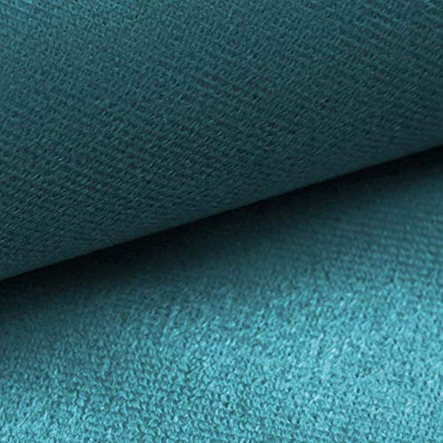 NOVELY® ARTENA Möbelstoff | Velours | samtig weich | Polsterstoff | Bezugsstoff | PFLEGELEICHT | ANSCHMIEGSAM (12 Türkis Petrol Blau) -