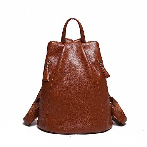 Mefly Der Trend Der Tasche Anti-Diebstahl-Rucksack Pu Koreanischer Mode Reisen Light brown