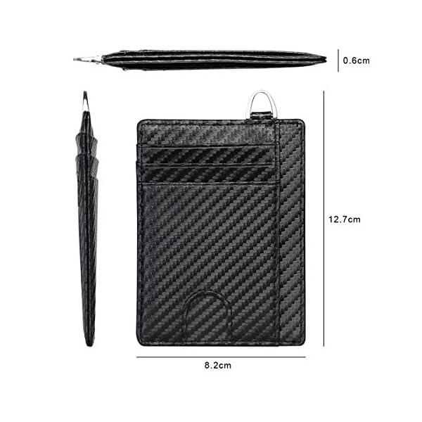 flintronic Portia Carte di Credito e Tasche Pelle, RFID/NFC Blocco Portafoglo, (1 Scomparto Con Cerniera, 6 Slot Per… 7 spesavip