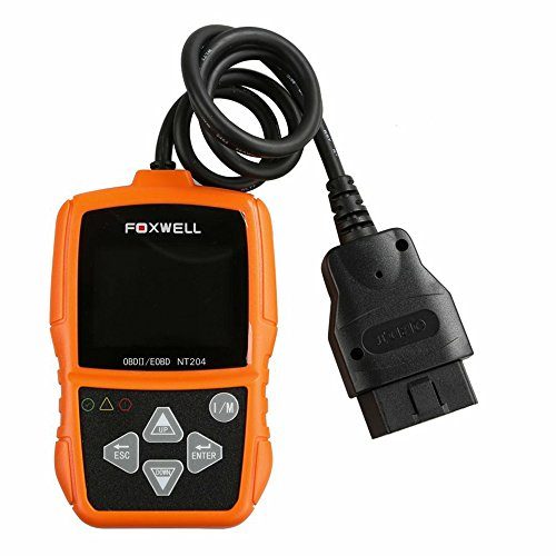 Foxwell nt204OBD2lector de código herramienta de diagnóstico culpa motor del coche apoyo multilingüe