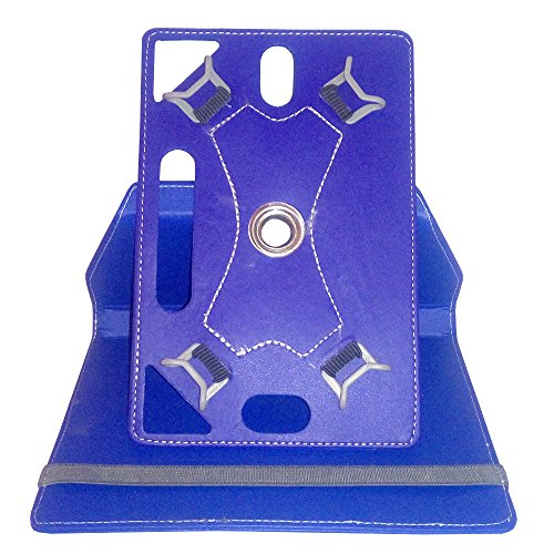 INDISMACK ROTATING 360° LEATHER FLIP CASE BACK COVER STAND FOR 7 INCH TABLET – BLUE