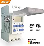 #2: Euro Din Type Digital Timer Controller- Made in Germany-Programmable for Daily/Weekly- DIN Rail Mounting