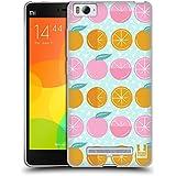 Head Case Designs Slices Citrus Patterns Soft Gel Case for Xiaomi Mi 4c / Mi 4i
