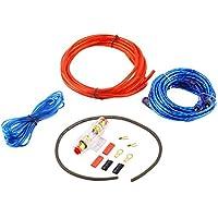 Metal 800W 14GA Amplificador de subwoofer de Audio para automóvil AMP Cableado Portafusibles Cable de Alambre Soporte Kit de instalación Distorsión de bajo Ruido