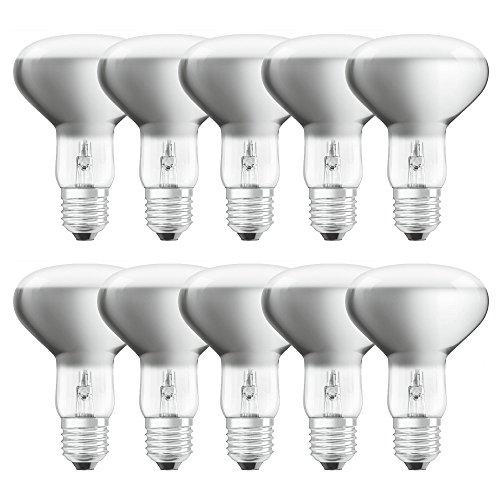 10 x Osram Eco Halogen Reflektor R80 57W = 75W E27 matt dimmbar warmweiß