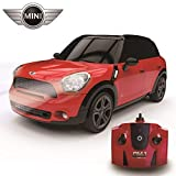 CMJ RC Cars 1:24 Scale Mini Countryman Cooper S All4 in Red and Black Colour with LED Lights and 2.4Ghz Technology