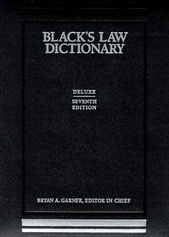 Blacks Law Dictionary Deluxe: Deluxe Edition por GARNER B A