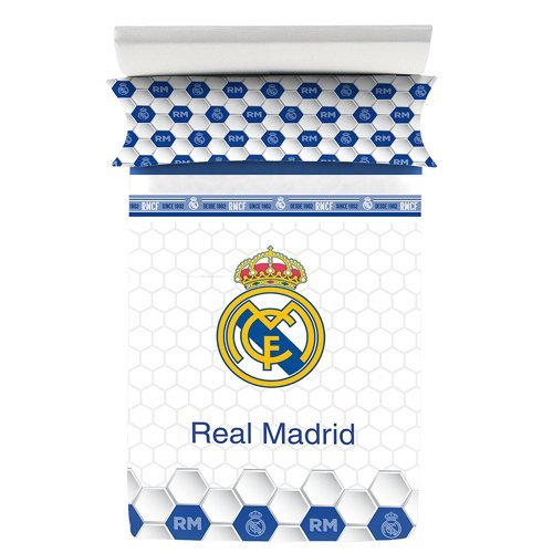 REAL MADRID CF – Bed Sheet Set 258 C10 BED 105X190/200+27 cms ( 180X270 )