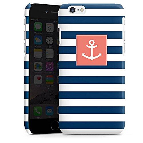 Apple iPhone 6 Housse Étui Silicone Coque Protection Ancre Bandes Maritime Cas Premium brillant